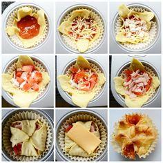 Heel gemakkelijk pizza muffins maken! Lekker voor als hapje bij de borrel!
