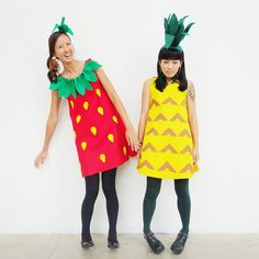 Halloween Costume - Strawberry + Pineapple Fruit Stand