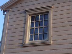Ocean Living In Sight: november 2013 Exterior Window Molding, Exterior Trim, Exterior Design, House Window Design, House Roof Design, Outdoor Window Trim, Gable Trim, Baseboard Styles, Cornice Design