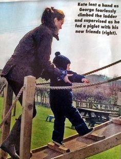 The Duchess of Cambridge & PrinceGeorge visiting Snettisham Park,