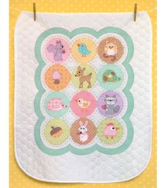 Dimensions Baby Hugs Happi Woodland Quilt Stamped Cross Stitch Kit