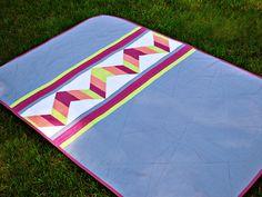 Bijou Lovely: neon chevron quilt.