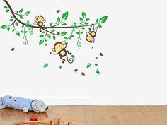 Mooie muursticker aapjes in een Boom, Ruim assortiment, Voordelig, hoge kwaliteit & Snelle levering. Bestel vandaag nog jouw Muursticker.