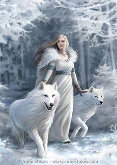 En invierno los lobos van en manada: una pareja alfa con cachorros de este año,…