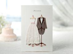 White Romantic Wedding Invitation 3D Fabric Lace by ItsInvitation