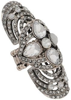 Forever 21 Bejeweled Knuckle Ring, $5.80