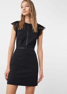 Blonda detail dress - Dresses for Women | MANGO USA