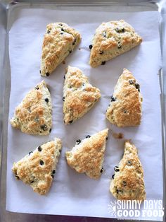 Irish Blueberry Scones -- fresh out of the oven with good butter...the best!