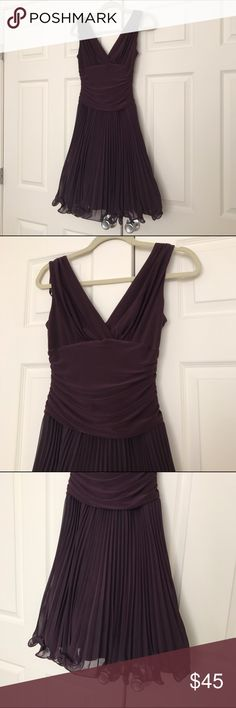Cocktail dress Plum/purple knee length dress (if you are taller it will come above the knees). Wore this once to a NYE party and that's it! Perfect condition S.L Fashions Dresses Asymmetrical