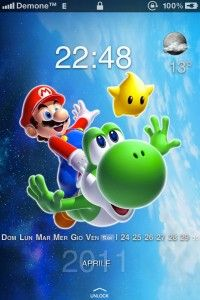Super Mario Galaxy iPhone 4 theme iPhone, iPhone 3G, iPhone 3G S, iPhone 4G, iPhone 4, iPhone 5,  iPhone 4s,iPhone 5c, iPhone 5s, iPhone 4 CDMA , iPod Touch 4.