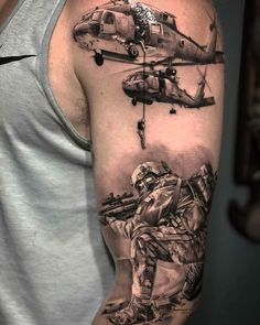 Tattoo guerra Patriotische Tattoos, Army Tattoos, Ribbon Tattoos, Military Tattoos, Badass Tattoos, Body Art Tattoos, Tattoos For Guys, Sleeve Tattoos, Cool Tattoos