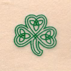 Celtic Three Leaf Clover embroidery design Another sister tattoo idea to represent all three of us and our scots irish heritage.