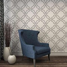This beautiful Moroccan inspired Sarah Trellis Allover Stencil makes a stunning accent wall. http://www.cuttingedgestencils.com/sarah-trellis-stencil-moroccan-stencils-wall-pattern-design.html
