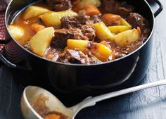 Gourmet Traveller WINE Spanish recipe for Andalucian lamb stew with saffron.