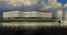"""#MichelDeLucchi designs """"La Pista Di Milano"""" #racetrack restoring its original function and giving its outer #structure a flag-like pattern, symbolizing the #flag waved at the start and finish of #GrandPrixRaces.  #italy #Milano #racing #racetrackdesign #archilovers #track #cycling #architecture #design #designlovers #architect #italianarchitect #architectureporn #archidaily #formula1 #alfaromeo #cars #speed #rally #architecturelovers #architecturephotography #autosport…"""