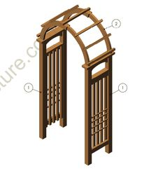 How to build Arbors - Arbours, Arbour Plans and Instructions