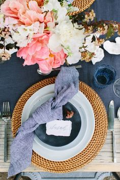 summer tablescape @crateandbarrel