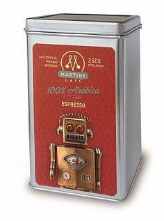 Martins Café 100% Arábica Espresso em Grãos 250g
