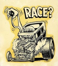 "* * Probably best known for his iconic ""Rat Fink"" cartoon creation (I'm personally not a fan of Rat Fink, or any rat for that matter.) Ed ""Big Daddy"" Roth - is synonymous with SoCal's Kustom Kulture & Hot Rod craze of the late & He had a deep bag of… Rat Fink, Daddy Day, Big Daddy, Rat Rods, Ed Roth Art, Truck Tattoo, Car Drawings, Cartoon Drawings, Pencil Drawings"