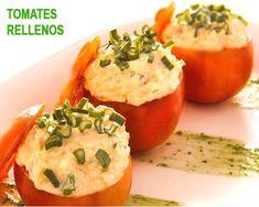 tomates rellenos de arroz, huevo y atún