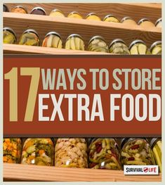 17 ways to store extra food for survival.