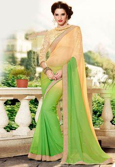 chiffon plain saree (6)