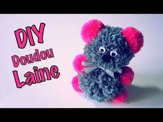 DIY Doudou Peluche Saint Valentin en Laine/Pompons - YouTube