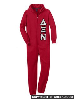 Sorority Onesie with Sewn-On Letters