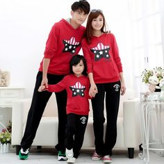 Fall Mom And Daughter Hoodies All-matched Cotton Roupas Infantis Menina Full Sleeve Father Son Matching Clothes New Arrival