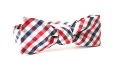 Rouge blanc et bleu damier noeud de cravate à la main par Lord Wallington/Mens noeuds papillon/cadeaux/cadeaux de Noël pour hommes/cadeaux p...