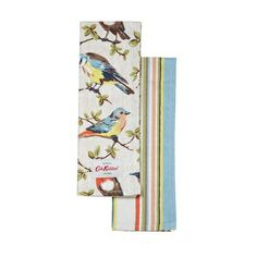 Garden birds and Kew stripes oven gloves, Catha Kidson (£12)
