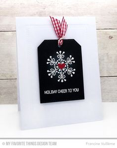 Snowflake Flurry, Winter Wonderland, Double Stitched Rectangle STAX Die-namics, Hip Clips Die-namics, Tag Builder Blueprints 4 Die-namics - Francine Vuillème  #mftstamps