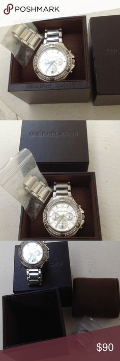 Michael Kors Stainless Steal Watch Michael Kors Stainless Steal Watch with box and extra links. Michael Kors Jewelry
