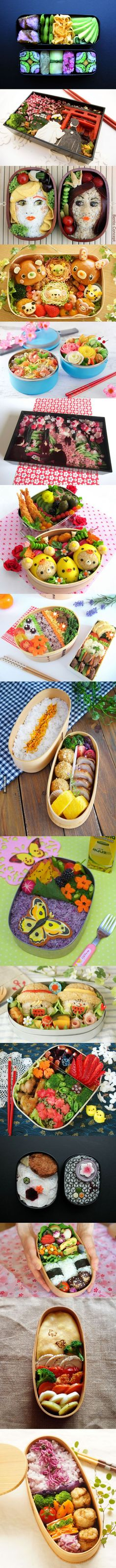Bento Boxes- pinning for the beautiful top one