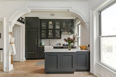 Grey kitchen in a Br
