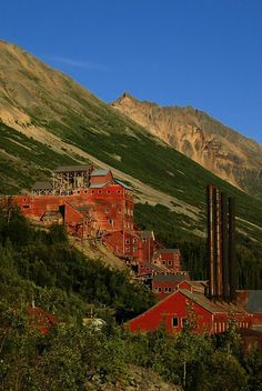 Abandoned copper mine. Kennicott Mill, Alaska. This copper mill operated from 1911 to 1938, when it and the town around it was abandoned.