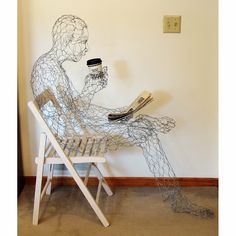 LIFE THEORY - laugh as much as you breathe and love as much as you live!: 3D art from wire