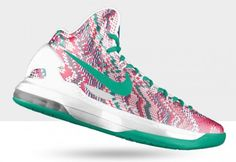 kevin durant shoes 2013 Nike KD V christmas graphic Atomic Green White