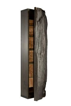 bog oak tree trunk cabinet by Adrian Swinstead Console Storage, Furniture Storage, Cabinet Furniture, Wooden Furniture, Furniture Design, Sideboard Cabinet, Oak Table, Rustic Design, Contemporary Furniture