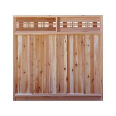 x 8 ft. Winchester Grey Wood-Plastic Composite Board-On-Board Privacy Fence Panel - The Home Depot - Modern Design Lattice Fence Panels, Fence With Lattice Top, Privacy Fence Panels, Cedar Fence, Fence Gate, Wood Fences, Cedar Gate, Home Depot, Fresco