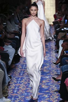 Taylor Hill walks the runway at the Brandon Maxwell S/S17 show at New York Fashion Week on September 13, 2016.