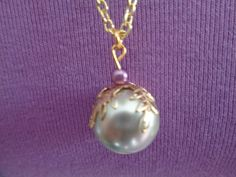 Mal inspired pearl necklace by TinkerGirlBoutique on Etsy