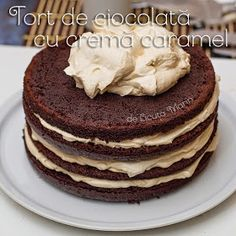 Din bucătăria mea: Tort de ciocolata cu crema caramel Creme Caramel, Tiramisu, Food And Drink, Breakfast, Ethnic Recipes, Desserts, Cakes, Sweets, Morning Coffee