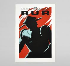 "POSTERS OF THE WPA: 1930s ""RUR"" Reproduction Hand-Printed Poster"