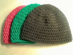 Quick Easy Winter Beanies.....  This is the hat pattern i use all the time. JeanAnn this is for you....