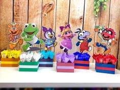 Muppet Babies, Summer Centerpieces, Centerpiece Decorations, Party Stores, Party Items, Gift Table, Baby Party, Baby Birthday, First Birthdays
