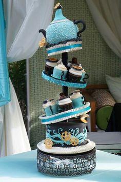 "Connie's Nephew's Wedding Cake...""Thru the Looking Glass"" Theme"
