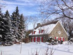 Maison ancestrale de Boucherville, Québec•• Destinations, Old Houses, Winter Wonderland, Youth, House Design, Interior Design, Architecture, House Styles, Places