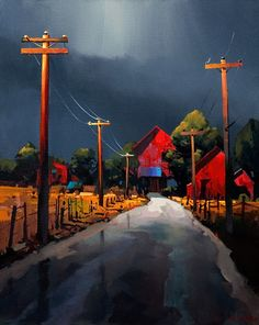 At the End of the Road, by Michael O'Toole. What vivid color. Wow