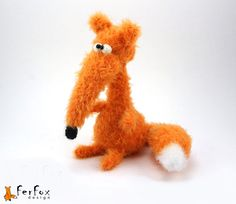 Fox plush woodland plush stuffed fox stuffed от FerFoxDesign